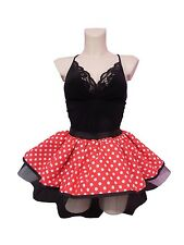 """MINNIE MOUSE TUTU SKIRT 14"""" LENGTH RED WHITE POLKA DOT 80S FANCY DRESS HEN PARTY"""