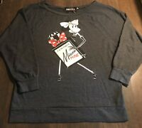 Forever 21 Twist Disney Women's Dark Gray Minnie Mouse Sweatshirt Size L