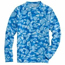 NWT Southern Tide Men's Camouflage Performance Long Sleeve Blue T-Shirt Small