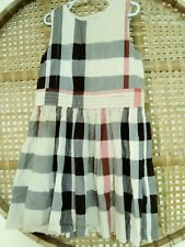 Burberry Girls Dress Size 8Y Plaid