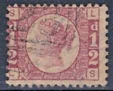 More details for 1854-57 victorian ½d halfpenny red plate 4 sl-ls fine used ref:zw8