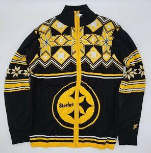 NFL Team Apparel Pittsburgh Steelers Ugly Christmas Sweater Medium