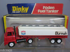 "DINKY TOYS MODEL No.950      FODEN FUEL TANKER  ""BURMAH""  ( VERSION )     VN MIB"
