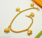 Elephant 22K 23K 24K THAI BAHT YELLOW GOLD GP Bracelet Bangle Jewelry Girl