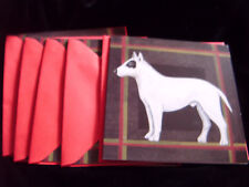 Pack of 5 Bull terrier blank greetings cards with envelopes