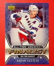 2005/06 Brian Leetch New York Rangers Captain NHL All-Time Greatest Hockey card