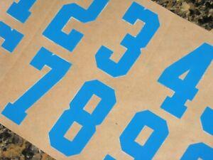 "UCLA BRUINS Football Helmet Numbers Powder Blue Decals 1"" MINI Size 3M 20MIL"