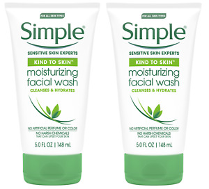 Simple Moisturizing Facial Wash, 5 Ounce (2 Pack)