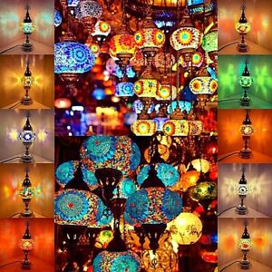 HANDMADE TURKISH/MOROCCAN MOSAIC DESK LAMPS (Approved by UK Stand. Authorities)