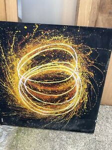 Large abstract oil paintings 80 To 100 Pieces on canvas Needs To Be Cleaned
