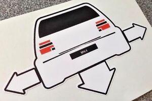 VW MK4 MKIV GOLF Down & Out Sticker Vinyl Decal Euro Car DUB VAG Scene Stickers