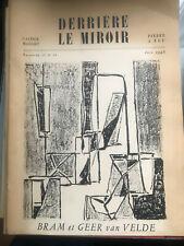 BRAM ET GEER VAN VELDE / DERRIERE LE MIROIR N° 11 ET 12 JUIN 1948. MAEGHT