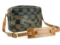 Authentic FENDI Checkered Cross-Body Shoulder Bag Purse 237026496088 Italy Used