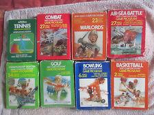 8 Coffret ATARI 2600 Games Bundle Lot CIB/Golf/BOWLING/Tennis/combat/Basketball
