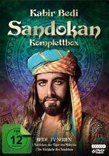 KABIR BEDI - SANDOKAN-KOMPLETTBOX: TIGER VON MALAYSIA + RÜCKKEHR  6 DVD NEU