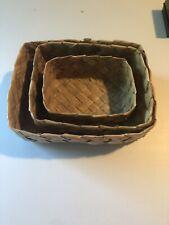 Farmhouse Home Decor Nesting Baskets - 3 Pc. Set