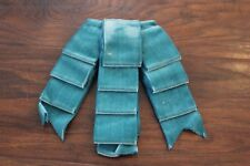 Vintage Therese Ahrens Peacock Blue Velvet Ribbon Comb