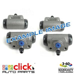 4x BRAKE WHEEL CYLINDERS REAR for FORD TRADER 409 3.5L 4L 6/1989-11/1997