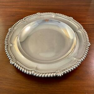 IMPORTANT PAUL STORR GEORGIAN STERLING SILVER SOUP BOWL: GADROONED SHELL 1810