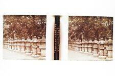 JAPON JAPAN Tokyo Lanternes Plaque de verre stereo Glass Stereoview Positif