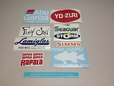 Fishing decal stickers (13) tackle rod lure boat fish on bass abu garcia #3