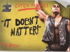 """THE ROCK 2002 Fleer WWE CATCH PHRASES Insert Card #1CP """"IT DOESN'T MATTER!"""""""