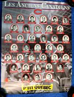 "NHL MONTREAL CANADIENS OLD TIMERS ADVERTISING POSTER 15"" x 20"" ANCIENS CANADIENS"