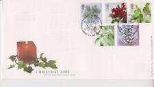 Combattue Bethléem PCM GB Royal Mail FDC de Noël 2002 plantes Stamp Set