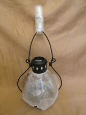 "New Rare! 9"" Pottery Barn Napa Votive Glass Lighting Candle Lantern Metal Handle"