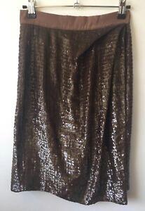 Like New Aurelio Costarella Sequinned Skirt Size 0/6