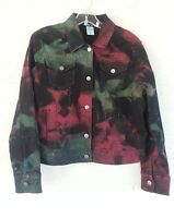 Western Rodeo Jacket Tie Dye H & J Women's Size Small with Sequins Unique