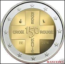 manueduc  2 EUROS  2014  BELGICA 150 AÑOS DE LA CRUZ ROJA    NUEVA