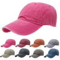 Men Women Baseball Cap Denim Jean Hat Brushed Washed Outdoor Sun Hat 7 Colors