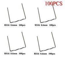 100Pcs/Set Pro Protección 0.6mm Wave Plano Hot Grapas para plástico Grapadora