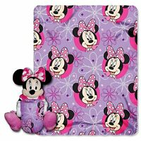 Minnie Mouse pillow doll and fleece blanket  throw  NEW