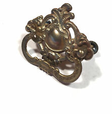 Antique Sewing maching cabinet drawer pull Red Eye 1902 Singer Treadle Brass
