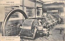 FRANCE SCOTT #243 STAMP BLAST FURNACE HYDRAULIC PIPES MACHINERY POSTCARD 1927 **