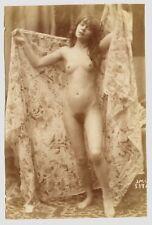Photo J.M. Canellas - Nu - Tirage albuminé 1890 -