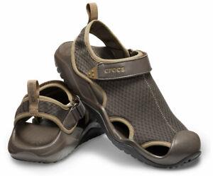 Men Crocs Swiftwater Mesh Deck Sandal 205289-206 Espresso 100% Authentic New