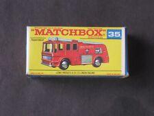 Vintage Matchbox Lesney SUPERFAST Merryweather Fire Engine 35 ORIGINAL MINT NIB