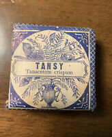 Antique 1900's Apothecary Packet PARKE DAVIS Co Botanic Drugs Tansy