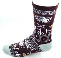 Mississippi State Bulldogs NCAA Maroon Gray Ugly Sweater Super Fan Crew Socks