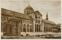 """SYRIA 1920 superb mint b/w RP pc """"DAMASCUS - Outside view of the mosque Amawi"""