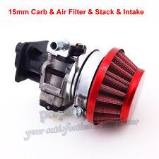 15mm Carburetor Air Filter Stack For Goped Gas Scooter Pocket Bike 33 43 49cc