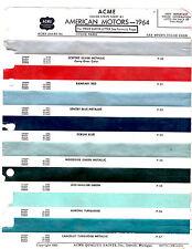 1964 RAMBLER AMERICAN AMBASSADOR CLASSIC 64 PAINT CHIPS ACME 4