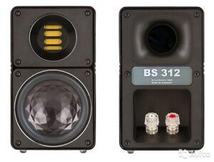 BRAND NEW! ELAC BS 312 Gloss Black Finish Ribbon Tweeter Bookshelf Loudspeakers