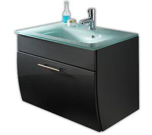 5620 Badezimmer Waschplatz Waschtisch WC Salona HGL mit Glaswaschbecken hängend