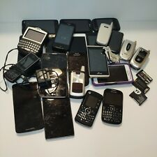 Mixed Lot Of  23+ Cell Phones & Batteries Parts Only. LG Samsung Motorola Blkbry