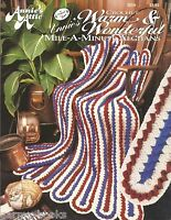 Warm & Wonderful Mile A Minute Afghans Crochet Annie's Attic Patterns 305A NEW