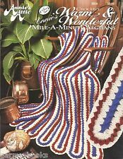 Warm & Wonderful Mile A Minute Afghans Crochet Annie's Attic Patterns 305A NEW